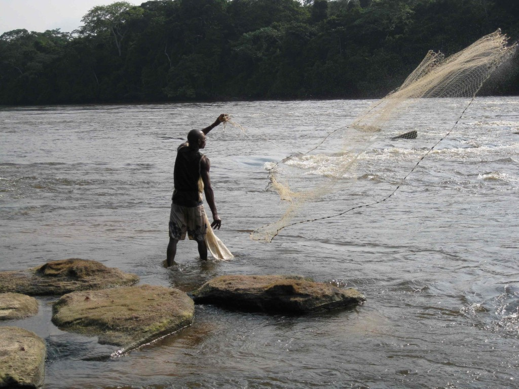 Fishing the holes in the Lomami